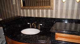 custom bathroom cabint with vanity top